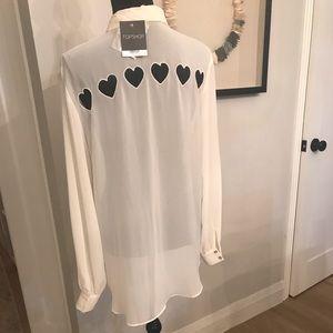 Top Shop Heart Cutout Blouse